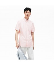 Lacoste Men's Regular Fit Short Sleeve Mini Piqué Shirt In Pink - CH9612 00 99P