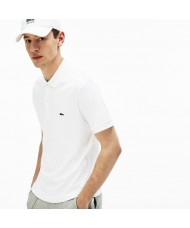 Lacoste Men's Regular Fit Pima Cotton Polo Shirt - In White - DH2050 00 001