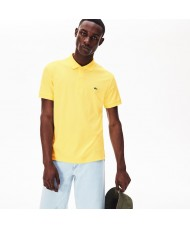 Lacoste Men's Regular Fit Pima Cotton Polo Shirt - In Yellow - DH2050 00 F9C