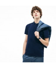 Lacoste Men's Paris Polo Shirt -  Regular Fit Stretch Cotton Piqué In Navy - PH5522 00 166