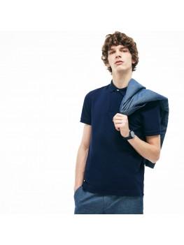 Lacoste Men's Paris Polo Shirt -  Regular Fit Stretch Cotton Piqué In Navy - PH5522 00 166