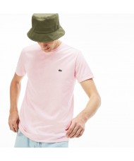 Lacoste Men's Crew Neck Pima Cotton Jersey T-shirt In Pale Pink - TH6709 00 T03