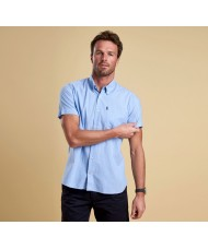 Barbour Oxford Short Sleeve Shirt In Light Blue - MSH4026BL33