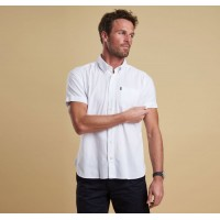 Barbour Oxford Short Sleeve Shirt In White - MSH4026WH11