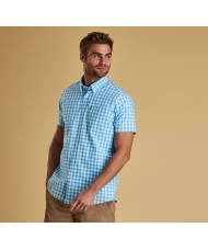 Barbour Gingham Short Sleeve Shirt In Blue & White - MSH4477BL11