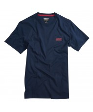 Barbour International Small Logo T Shirt In Navy Blue -  MTS0141