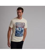 Barbour International Steve McQueen™ Hero T Shirt In Chalk - MTS0522ST13