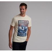 Barbour International Steve McQueen™ Hero T Shirt In Chalk - MTS0522ST13