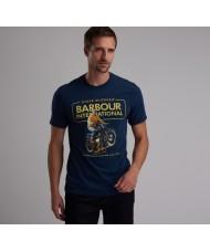 Barbour International Steve McQueen™ CoolerT Shirt In Dress Blue - MTS0524BL21