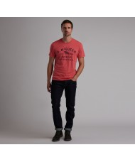 Barbour International Steve McQueen™ Boon T Shirt In Washed Red - MTS0525RE59