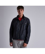 Barbour International Bower Waxed Cotton Jacket In Navy Blue - MWX1474NY91