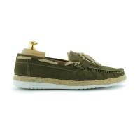 Paolo Vandini Men's Delmore Suede Boat Shoe In Khaki