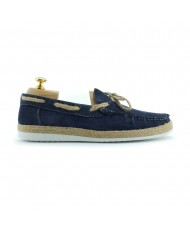 Paolo Vandini Men's Delmore Suede Boat Shoe In Navy Blue