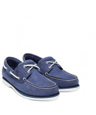 Timberland  Men's Classic Two Eye Boat Shoe In Blue - Style Number TB 0A1ZTZ428