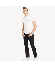 Tommy Hilfiger Stretch Slim Fit T Shirt In White - Style 867896625