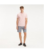Tommy Hilfiger Slim Fit Pique Polo In Pink