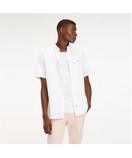 Tommy Hilfiger Short Sleeve Stretch Cotton Poplin Shirt In White