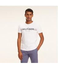 Tommy Hilfiger Logo Crew Neck T-Shirt In White