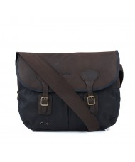 Barbour Wax Leather Tarras Bag In Navy - UBA0003NY91