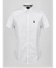 "Luke Sport ""Jimmy Stretch"" Short Sleeve Oxford Shirt In White - M470850"