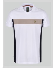 "Luke Sport ""Cole"" Polo In White With Detailing - M471452"
