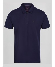"Luke ""Zippy"" Polo Shirt In Navy Blue - M471406"