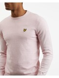 Lyle & Scott Cotton Merino Crew Neck Jumper In Dusky Lilac Marl - KN400VC