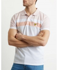 Lyle & Scott Colour Block Polo Shirt In Pink & White - SP1016V