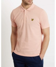 Lyle & Scott Plain Pique Polo In Coral Way Pink - SP400VB