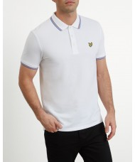 Lyle & Scott Tipped Polo Shirt In White - SP800VTR