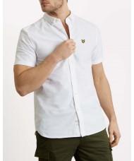 Lyle & Scott Short Sleeve Button Down Oxford Shirt In White - SW605VTR