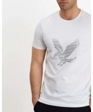 Lyle & Scott Eagle Print T Shirt In White - TS1013V