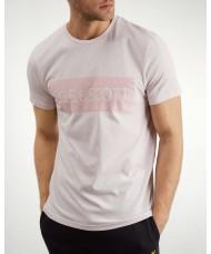 Lyle & Scott Flock Logo T Shirt In Dusky Lilac - TS1017V