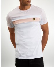 Lyle & Scott Colour Block T-Shirt In White & Pink - TS1019V