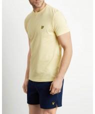 Lyle & Scott Crew Neck T-Shirt In Vanilla Cream - TS400V