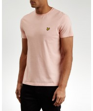 Lyle & Scott Crew Neck T-Shirt In Coral Way Pink - TS400V
