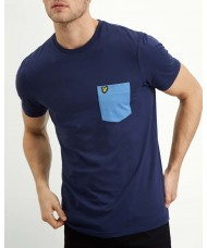 Lyle & Scott Contrast Pocket T-Shirt In Navy - TS831V