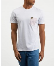 Lyle & Scott Contrast Pocket T-Shirt In White - TS831V