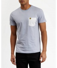 Lyle & Scott Contrast Pocket T-Shirt In Sky Blue -  TS831V