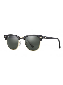 Ray-Ban Classic Clubmaster - Green G-15 Lenses & Black Frame - RB3016 W0365 5121 145 3N