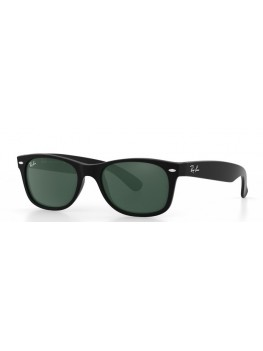 Ray-Ban New Wayfarer - Green Classic G-15 Lenses & Matt Black Frame - RB2132 622 5518