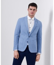"Remus Uomo ""Fabio"" Slim Fit Cotton-Blend Jacket In Light Blue"