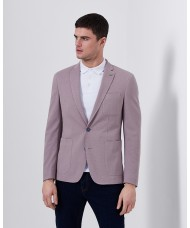 "Remus Uomo ""Fabio"" Slim Fit Cotton-Blend Jacket In Dusky Pink"