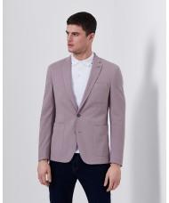 """Remus Uomo """"Fabio"""" Slim Fit Cotton-Blend Jacket In Dusky Pink"""