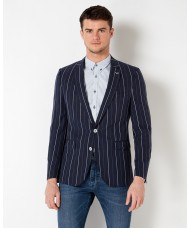 "Remus Uomo ""Torentto"" Slim Fit Striped Tencel Linen-Blend Jacket - 4 11212 78"