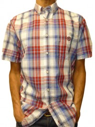 "Henri Lloyd ""luff"" Short Sleeve Check Shirt - Regular Fit - M35931"