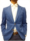 Remus Uomo Single Breasted Unconstructed Jacket In Blue
