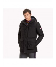 Tommy Hilfiger Heavy Canvas Down Parka In Black
