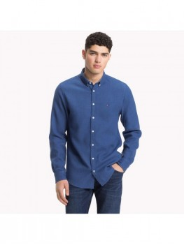 Tommy Hilfiger Regular Fit Flannel Shirt In Navy Blue -  MW0MW07776