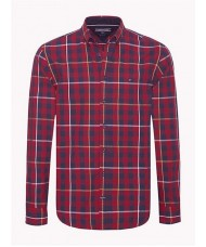 Tommy Hilfiger Twill Check Shirt - Red & Black -  Style #: MW0MW07802